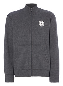 Online Exclusive Russell Athletic Charcoal Funnel Neck Zip Through
