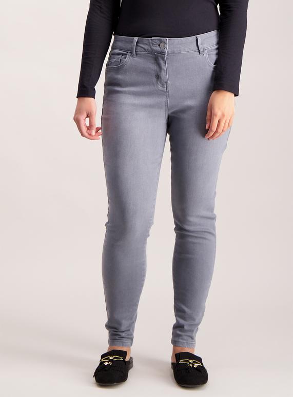 PETITE Grey Skinny Jeans
