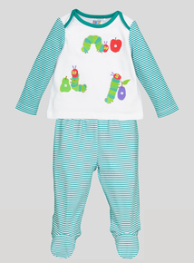 White 'The Very Hungry Caterpillar' Pyjamas (Newborn-18 months)