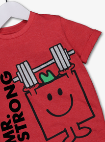 Online Exclusive Mr Men Mr Strong Red T-Shirt (9 months - 6 years)