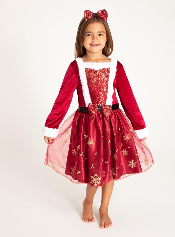 Christmas Red.Sku Aw19 Xmas Miss Santa Red