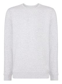 Grey Basic Crew Sweatshirt