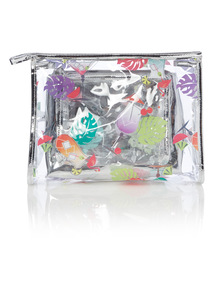 3 Pack Cocktail Print Travel Bags