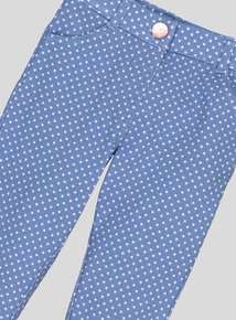 Blue Polka Dot Jeggings (9 months-6 years)