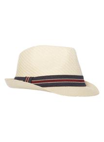 Stone Striped Trilby Hat