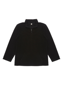 Unisex Black Funnel Neck Fleece (13-16 Years)