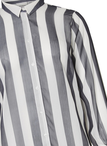4db7aba180cfb JUNAROSE Black   White Striped Shirt