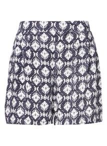 Navy Havana Print Shorts