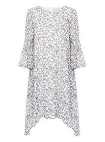 Floral Print Chiffon Dress