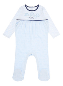 Boys Blue Car Sleepsuit (0-12 months)