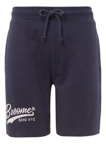 Navy Printed Shorts