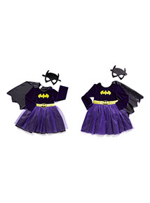 Purple Batgirl Outfit  (2-12 years)