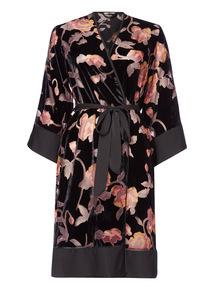 Premium Floral Devore Robe