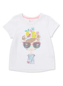 White Glitter Girl T-shirt (9 months-6 years)