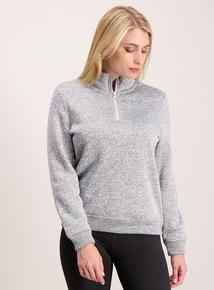 Grey Funnel Neck Fleece