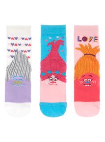 Multicoloured Trolls Socks 3 Pack