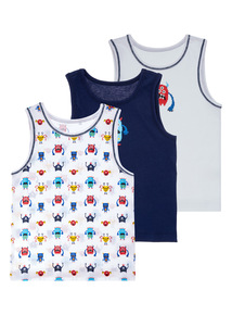 3 Pack Monster Vests (18 months-5 years)