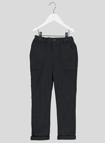 Grey & Blue Check Trousers