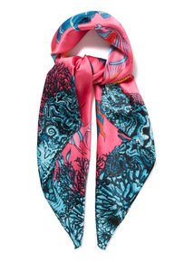 Multicoloured Fish Print Scarf