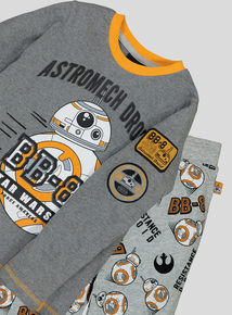 Star Wars BB8 Grey Long-Sleeved Pyjamas (4-13 Years)