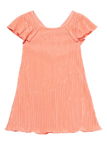 Coral Plisse Dress (3 - 12 years)