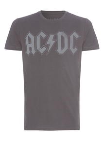Grey ACDC Band Tee