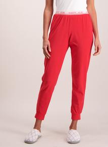 Red Marl 'Sleepy Head' Pyjama Bottoms