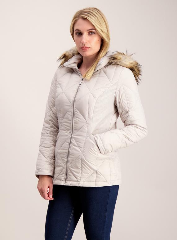 7e73251abdb Womens Silver Grey 3 Tog Feather & Down Jacket | Tu clothing