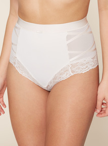 2 Pack Smoothing Lace Trim Briefs