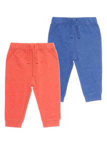 Boys Red Joggers (0-24 months) 2 Pack
