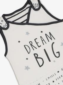 Cream 'Dream Big' Sleep Bag 1.5 Tog