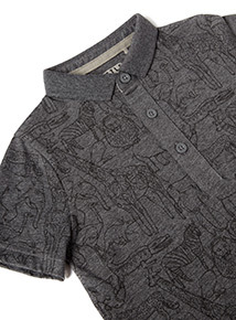 Monochrome Animal Printed Polo Shirt (9 months-6 years)