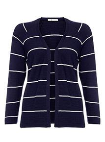 Navy Stripe Cardigan