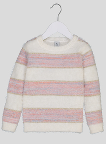 Cream Stripe Fluffy Jumper (9 months-6 years)