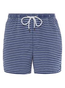 Blue Striped Swim Shorts
