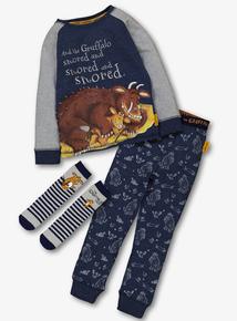 The Gruffalo Blue & Grey Pyjamas With Socks (1-7 years)