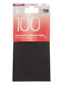 Black 100 Denier Active Heat Tights