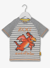 Zog Grey Striped T Shirt 9 Months