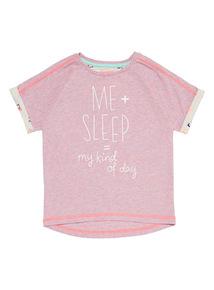 Mix and Match Pink Sleep T-Shirt (3-12 years)