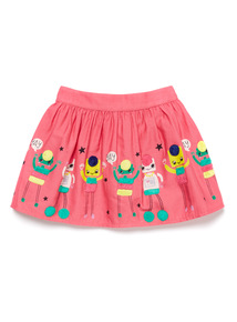 Pink Robot Border Skirt (9 months-6 years)