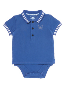 Navy Polo Bodysuit (0-24 months)