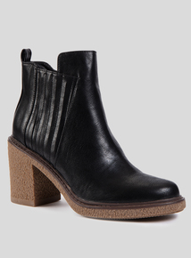 Online Exclusive Black High Heel Chelsea Boots