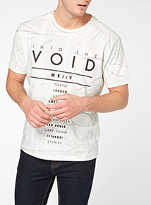 White Void Oversized Tee
