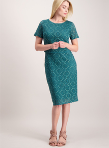 Green Lace Double Layer Dress