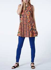 Multicoloured Printed Tunic