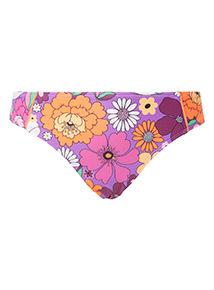 Multicoloured Floral Print Classic Bikini Briefs