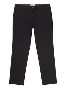 Black Straight Fit Chinos With Stretch