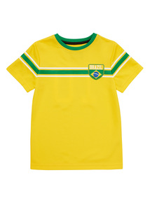 Yellow Brazil Active Football Top (3 - 12 years)