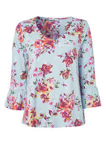 Multicoloured Floral Patterned Top