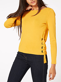 Yellow Side-Tie Jumper